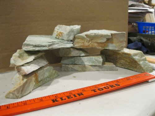 10 Pc Aquarium Rock DIY Kit. Aquarium Safe, Natural Stone Iwagumi ...