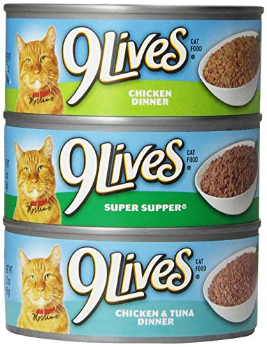 9 Lives Pate Favorites Variety Pack Canned Cat Food Sale 100