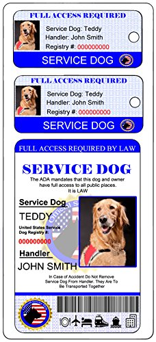 0f80e7a6b7f9 Holographic Service Dog ID + 2 Key Tags   Shop   Pet Lovers Center