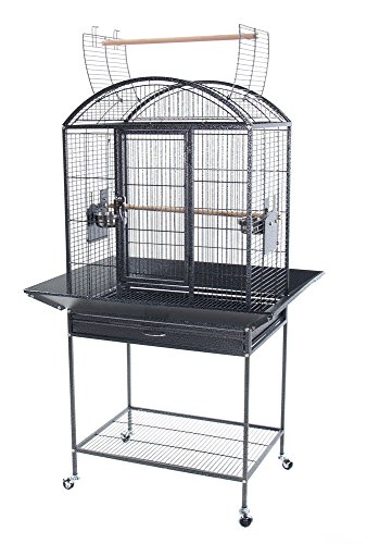 Petcagemart 241861231k Wrought Iron Bird Cage With Stand