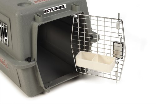 Petmate Sky Kennel For Pets Up To 15 Pound Light Gray