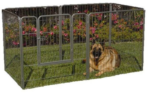 Precision Pet 38 In Courtyard Kennel Silver Crackle