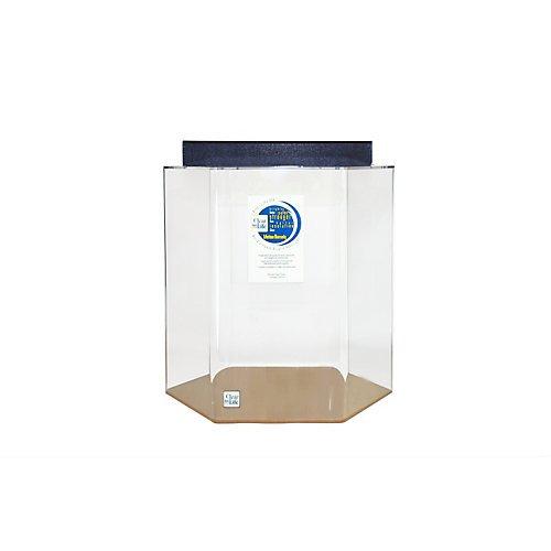 Acrylic hexagon aquarium 55 gallon black shop pet for 55 gallon hexagon fish tank