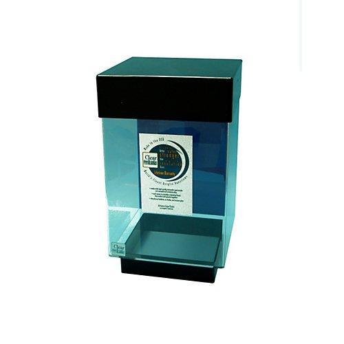 Desktop cube aquarium 10 gallon black shop pet lovers for Aquarium cuve
