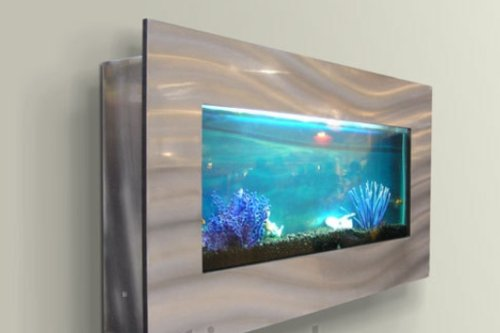 wall mounted aquarium 35″x17″ silverjersey home decor 50%off